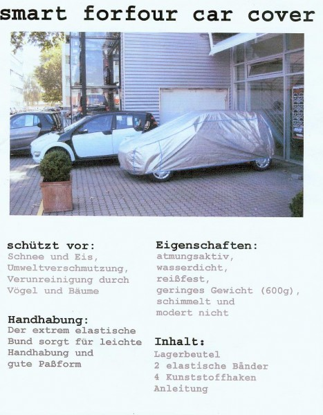 Vollgarage smart Forfour - Mitsubishi Colt