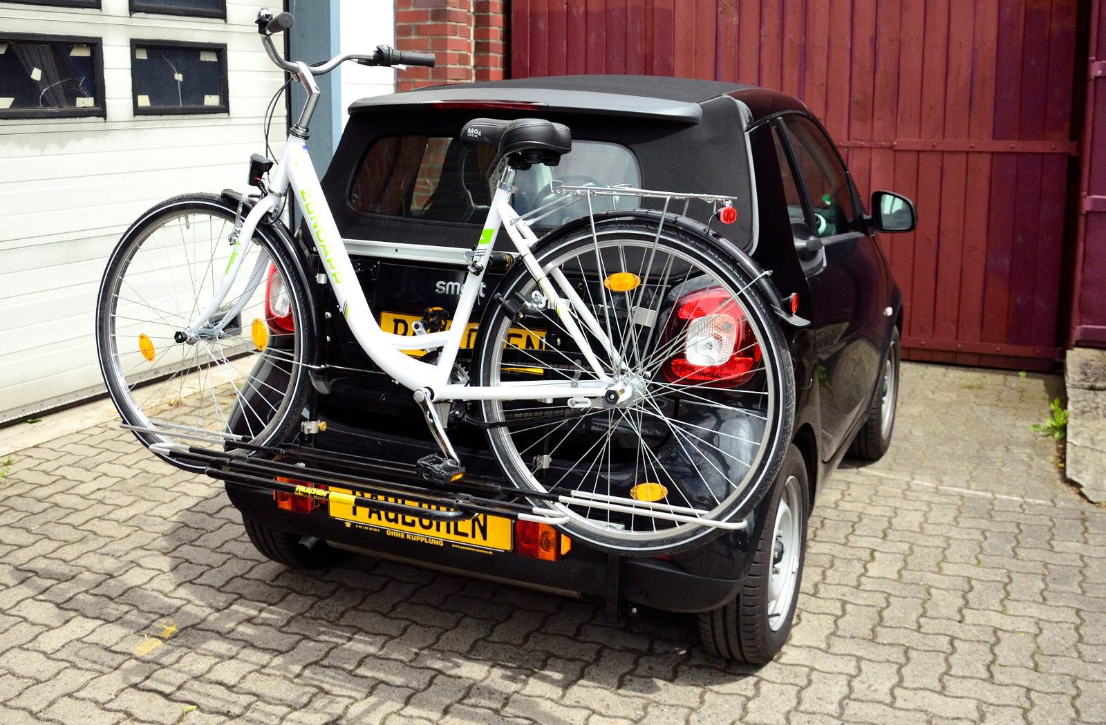 Rear Bicycle Rack Carrier Smart Fortwo Coupe 453 Paulchen