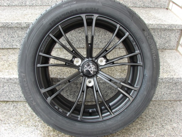 """Sommerkomplettradsatz OZ X2 15"""" schwarz glänzend"""